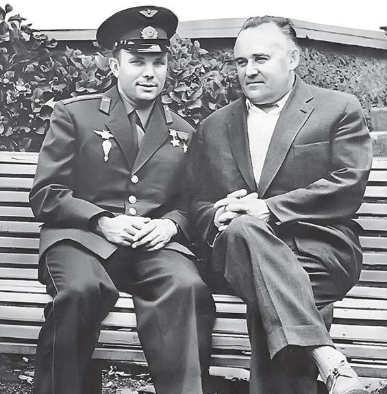 В Королёве установлен памятник С. Королёву и Ю.А. Гагарину